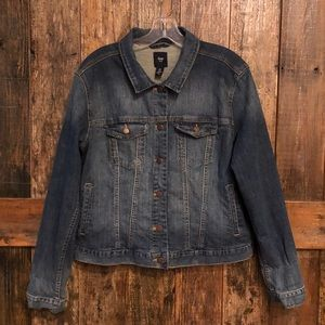 Gap, XL, Blue Faded Jean Jacket